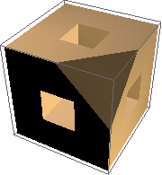 Menger sponge with corner cut off