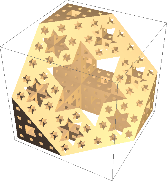 slice through level 3 of Menger sponge